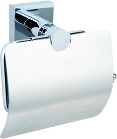Never Drill Again Hukk - Toilet Roll Holder with Cover - Never Drill Again available at Plumbworld