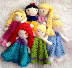 Princess Lovey/ Security Blanket/ Plush Doll/ Stuffed Toy Doll/ Soft Toy Doll/ Amigurumi Doll/ Frozen Doll-  MADE TO ORDER by mamamegsyarnshoppe on Etsy