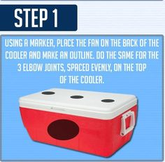 DIY Cooler Air Conditioner- requires a fan and 3 elbow joints for the top, too. Cooler Air Conditioner, Go Glamping, Camping, Diy Cooler, Cool Experiments, Emergency Preparation, Slot Online, Way Of Life, Helpful Hints