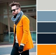 The 18 best color combinations of your clothes for every occasion Vivid color coat Color Combinations For Clothes, Color Combos, Look Street Style, La Mode Masculine, Outdoor Wear, Deep Red Color, Mens Fashion Suits, Matching Outfits, Color Inspiration