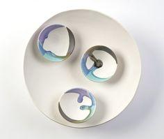Mountain Wall piece; porcelain and glazes. 26 cm #sarahsceramics