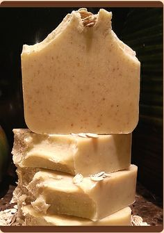 Sweet Honey Coconut Milk & Oatmeal. All Natural (Unscented) Soap. So creamy, rich and luxurious.