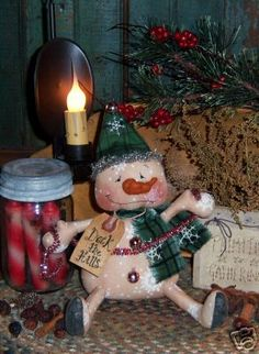 Primitive Gingerbread Candy Cane Doll Patti/'s Ratties Paper Pattern #360