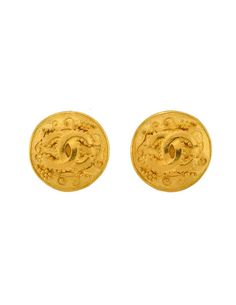 85553c70cb523 Chanel Vintage Matte Gold CC Logo Earrings - from Amarcord Vintage Fashion
