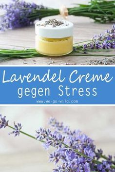 DIY Lavendel Creme gegen Stress und Kopfschmerzen Making lavender cream yourself is easy! Here's a quick guide to lavender ointment with olive oil. The best home remedy for headaches and a great remedy for stress # lavender # natural cosmetics # cream Home Remedies, Natural Remedies, Hair Colorful, Home Remedy For Headache, Lavender Recipes, Diy Beauté, Leave In, Natural Make Up, Natural Cosmetics