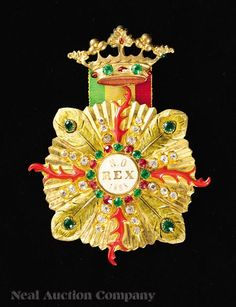 "Rex, Ducal Badge, 1883, theme ""Atlantis-The Antediluvian World"""