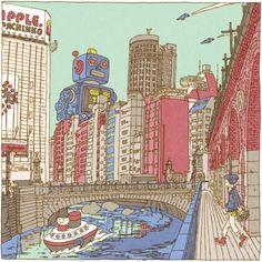 521Tra il 1826 e il 1833 l'artista ukiyo-e Katsushika Hokusai realizzò 36 vedute del monte Fuji. A lui si è ispirato l'illustratore Shinji Tsuchimochi nel realizzare 100 Views of Tokyo. Lo ha fatto sia per la scelta della tecnica ukiyo-e sia per il soggetto, ovvero un panorama. Dopo 3 anni ha realizzato 95 delle 100 …