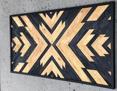 Items similar to wood wall art - chevron reclaimed wood wall art - modern wall art - wood decor on Etsy