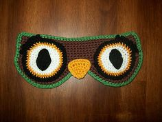 """candyjunky's Owl get up later mask  Would make a cute gift for your favorite """"sleep-aholic"""", free pdf"""