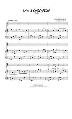 """""""I Am A Child of God"""" solo - very pretty arrangement (2013's Primary Theme)"""