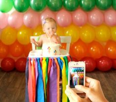 Real Party Inspiration: Parker Penny's Rainbow First Birthday