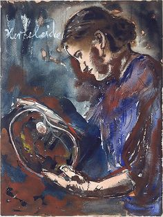 Herzeleide, Anselm Kiefer, Date: 1979 Medium: Watercolor, gouache, and graphite on paper