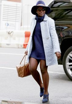 Lupita Nyong'o shows off her toned limbs ahead of play matinee in NYC | Daily Mail Online