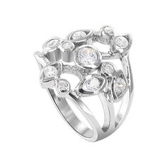 Gem Avenue 925 Sterling Silver 2mm Round Cubic Zirconia Floral Designer Ring >>> Read more reviews of the product by visiting the link on the image.Note:It is affiliate link to Amazon.