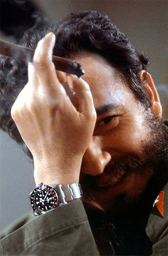 Fidel Castro & Che Guevara A Story of A Lawyer & A Doctor Rolex GMT-Master Watches Over the . Vintage Rolex, Vintage Watches, Fidel Castro Che Guevara, Che Guevara Images, Rolex Watches, Watches For Men, Rolex Gmt Master 2, Viva Cuba, Stainless Steel Rolex