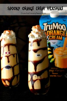 Spooky Orange Cream Milkshake (Healthy)