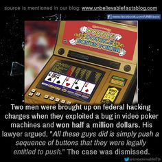 video poker machine hacks