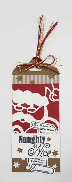 Stampin Up Detailed Santa Thinlits & Greetings with Santa stamps
