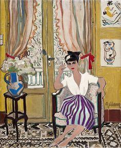 Annie à la jupe rayée by Joseph Gillain