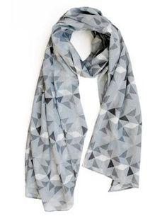 Scarf / Sarong - Geometric grey Cute Outfits, Grey, Womens Fashion, Skirts, Fox, Handmade, Collection, Winter, Life