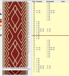 f3d50196650d58cfa90b0ef277d34e0b--tablet-weaving-patterns-weaving-designs.jpg 597×658 pixels