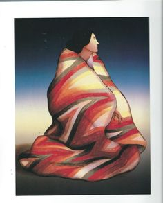 "R.C.Gorman,  Navajo  ""Lighting Blanket""  Native American, Southwest Art Print #SouthwestArt"