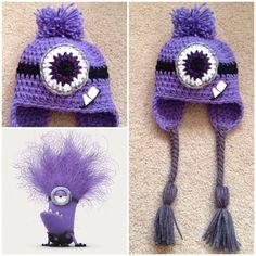 Crochet Evil Minion Beanie/Hat by Potterfreakg on Etsy