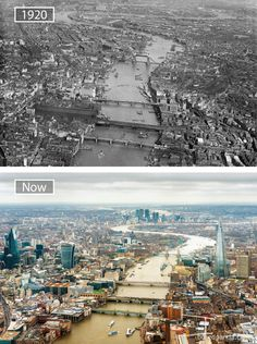 22 Jaw-Dropping Before-And-After Pics Showing How Famous Cities Have Changed – UltraLinx Then And Now Pictures, Before And After Pictures, Old Pictures, London City, Old London, Travel Around The World, Around The Worlds, Photo Voyage, London History