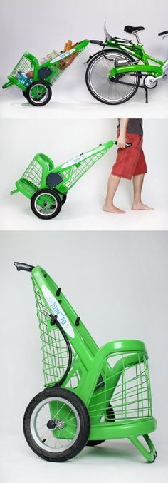 The creative trailer was designed for city leasing bicycle. For more great pics, follow www.bikeengines.com