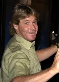 Steve Irwin. Steve had a powerful love and respect for all creatures, sweet and scary alike.  What a special soul he was. . . . and is.
