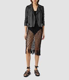 Womens Azeen Skirt (Black) - product_image_alt_text_1