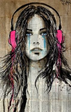 "Saatchi Art Artist Loui Jover; Drawing, ""wired 4 sound"" #art"