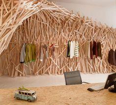 textured retail art installation