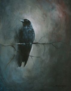 The Crows Creation 12 X 16 Acrylic on Canvas (click, painting by artist Tim Gagnon