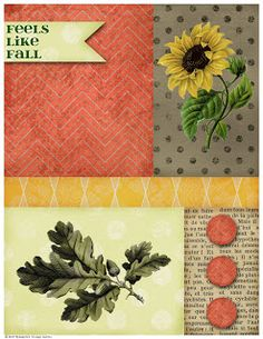 Ephemera's Vintage Garden: Weekly Freebie - Colourful Fall Collage