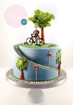 Bike cycling cake for boys.                                                                                                                                                                                 More