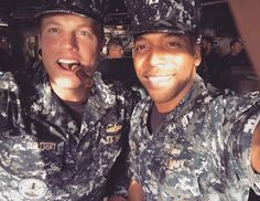 There's Jocko with Adam Baldwin and the cigar // Wrap of first day filming season three.