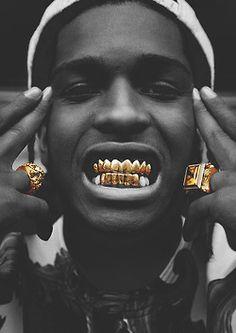 asap rocky gold teeth - Google Search