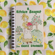 RARE: A Kitchen Bouquet From Grace Gourmets, Vintage 1970s Church Charity Cookbook, Grace Community Church Panorama City, PA by WorkerBeeBazaar on Etsy https://www.etsy.com/listing/508381049/rare-a-kitchen-bouquet-from-grace