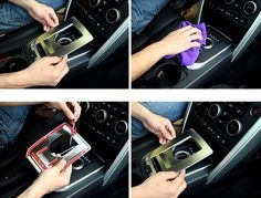 Gear shift frame cover 1pcs For Land Rover Discovery Sport 2015 2016 LHD Car Interior Accessories Car styling