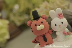 Love tiger &rabbit wedding cake topper