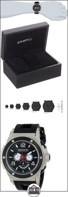 Orefici ORM1C4801 Regata para hombre esfera negra negro correa de goma reloj cronógrafo  ✿ Relojes para hombre - (Lujo) ✿