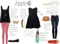 """How to Dress for Your Body Type: Apple"" by malloryruth on Polyvore"