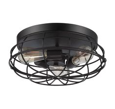 Savoy House 6-8074-15-13 Scout 3-Light Flush Mount in English Bronze