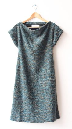 New at LOVE at Lesley Evers!! Tweed Dress, Teal, V Neck, How To Wear, Shoe, Clothes, Dresses, Women, Fashion