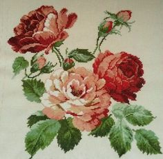 This Pin was discovered by Gök Cross Stitch Bird, Cross Stitch Borders, Cross Stitch Flowers, Cross Stitch Charts, Cross Stitch Designs, Cross Stitching, Cross Stitch Patterns, Rose Embroidery, Cross Stitch Embroidery