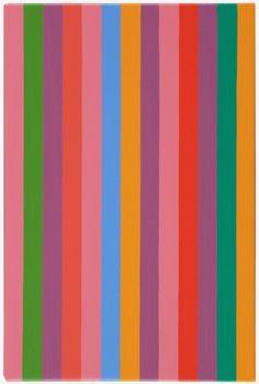 Bridget Riley (English, b. 1931), Rose Rose 12, 2011. Oil on linen, 37.5 x 25 cm.
