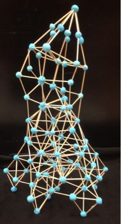 The Helpful Art Teacher: Toothpick Sculptures, How Art Inspires Art-great website for tetrahedron toothpick sculpture how-to Sculpture Lessons, Sculpture Projects, Sculpture Art, 3d Art Projects, School Art Projects, Toothpick Sculpture, Art Doodle, Art Lessons Elementary, Art Classroom