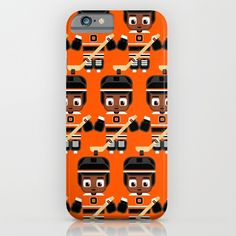 Ice+Hockey+Orange+iPhone+&+iPod+Case+by+BoxEdsPaperCrafts+-+$35.00
