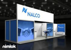 Nimlok specializes in trade show booths and custom display design. For Nalco we built a large-scale trade show exhibit to shoecase their brand.